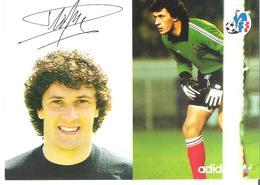 DOMINIQUE DROPSY. CP Autographe Pub Adidas - Calcio
