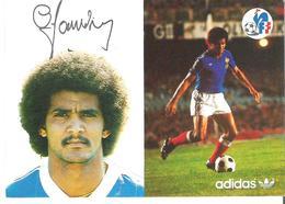 GERARD JANVION. CP Autographe Pub Adidas - Calcio