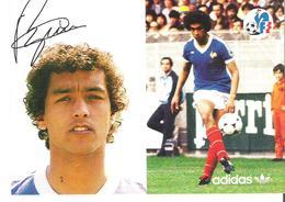 ALAIN MOIZAN. CP Autographe Pub Adidas - Calcio