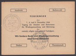 """Mi-Nr. P 954, Zudruck """"Tegernsee- Konferenz"""", 1946, Variante III Beginnend Mit """"Auschwitz"""", Pass. Sst, O - Gemeinschaftsausgaben"""