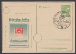"""Mi-Nr. P961 C 2b, """"Philatelisten- Treffen"""", Dresden, 1948 Mit Umrahmungslinie, Pass. Sst., O - Gemeinschaftsausgaben"""