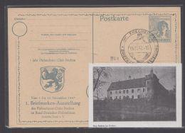 """Mi-Nr. P962, Zudruck """"Frechen, Burg Bachem"""", Pass. Sst., O - Gemeinschaftsausgaben"""