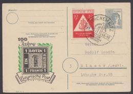 """Mi-Nr. P962 C 14, """"Bayern - Einser"""" Als Zudruck, Zusatzfr. Sst """"Chemnitz"""", O - Gemeinschaftsausgaben"""