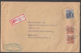 """Mi-Nr. 50 I, 44 I, Dek. MiF Auf R-Brief """"Duisburg- Meidrich"""", 14.8.48 - Bizone"""