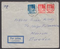 Mi-Nr. 75/87, MiF Auf  Portoger. Bedarfs- Luftpost Nach Schweden - Bizone