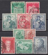 Mi-Nr. 101/10, Alle 4 Sonderausgaben 1948/49 Komplett, Bedarfsstücke, O - Bizone