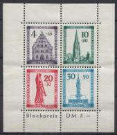 """Mi-Nr. Baden, Block 1 A, """"Freiburg""""- Block, Kl. Haftstelle Oben Im Rand, **, * - Französische Zone"""