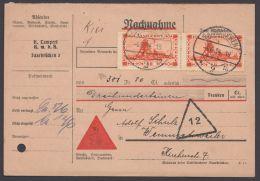 """Mi-Nr. 143, MeF Mit 2 Werten Auf NN-Karte """"Saarbrücken"""", 4.6.34 - 1920-35 Saargebiet – Abstimmungsgebiet"""