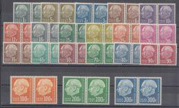 """Mi-Nr. 409/28, """"Heuß II"""", Kplt., Alle In Waag. Paaren, ** - 1957-59 Bundesland"""