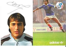JEAN-FRANCOIS LARIOS. CP Autographe Pub Adidas - Calcio
