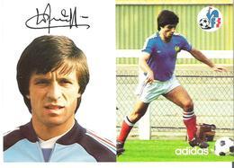 LOIC AMISSE.  CP Autographe Pub Adidas - Calcio
