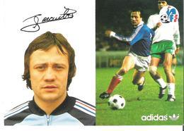 BERNARD LACOMBE.  CP Autographe Pub Adidas - Calcio