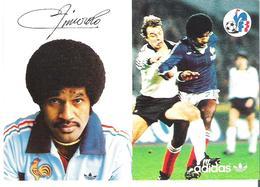 JACQUES ZIMAKO.  CP Autographe Pub Adidas - Calcio