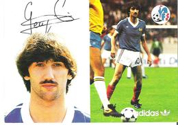 BERNARD GENGHINI.  CP Autographe Pub Adidas - Calcio