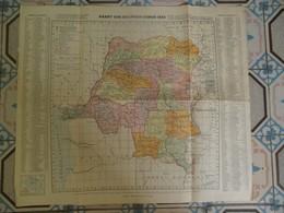 Kaart Van BELGISCH - CONGO  1923 - Cartes Géographiques
