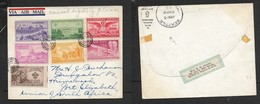 USA Cover, AIR MAIL, 27c (7 Stamps) Dumb Cancels, On Reverse SEATTLE JAN 15 1951 C.d.s. > S.Africa, - United States