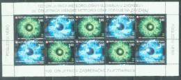 HR 2003-636-7 100A°STERNWARTE ZAGREB, CROATIA-HRVATSKA, MS, MNH - Astronomie