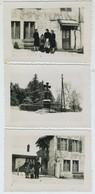 """Lot De 3 Photos Légendées """" Varey Janvier 1941 """". Ain ? - Lieux"""