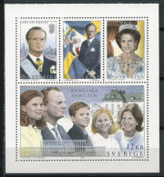 Svezia 1993 Mi. 1793-1796 Foglietto 100% Animata (*)Famiglia Reale - Blocks & Sheetlets