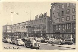 ROTTERDAM - Beursplein, Viele Alte Autos, Gel.1955 - Rotterdam