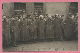 Guerre 14/18 - West-Vlaanderen - Flandre Occidentale - Carte Photo - Foto - Die Ersten Gefangenen Amerikaner - P.O.W - Guerre 1914-18