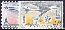 ** Tchécoslovaquie 1957 Mi 1042-3 (Yv PA 45-6), (MNH) - Unused Stamps