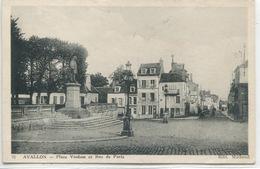 - 89 -YONNE -AVALLON - Place Vauban Et Rue De Paris - Avallon