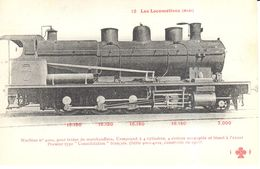 Thèmes - Transports - Chemins De Fer Les Locomotives Française - Machine N° 4002 - Trains