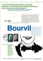 1994 DOCUMENT FDC CHANTEURS ACTEURS BOURVIL - Documenten Van De Post