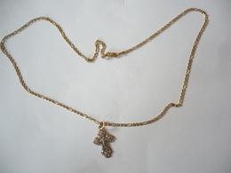 Goldkette Mit Kreuz-Anhänger  (542) - Halsketten