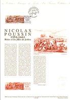 1994 DOCUMENT FDC PEINTURE DE NICOLAS POUSSIN - Documents De La Poste