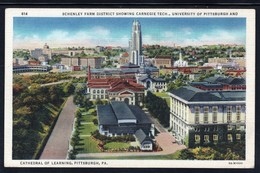 CPA - PITTSBURGH - Schenley Farm District Showing Carnegie Tech. University And Cathedral Of Learning ( Lot 402) - Pittsburgh