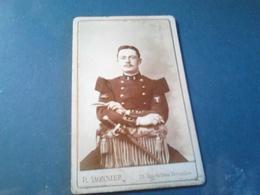 CARTON PHOTO MILITAIRE OFFICIER VERSAIILLES BONNIER - Guerre, Militaire