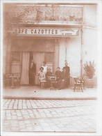 BEZIERS - Photo Café CAZOTTES - 12 X 9 Cm - 2 Scans. - Beziers