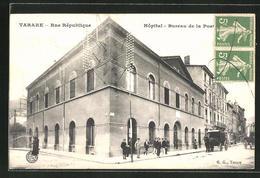CPA Tarare, Hopital Et Bureau De La Poste, Rue République - Tarare