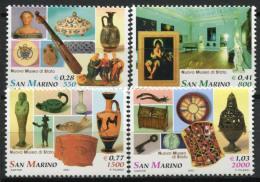 San Marino 2001 Sass. 1815-1818 Nuovo ** 100% Museo Di Stato. - San Marino