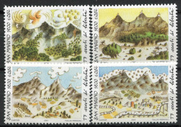 San Marino 2001 Sass. 1811-1814 Nuovo ** 100% Monte Titano, Montagna - San Marino