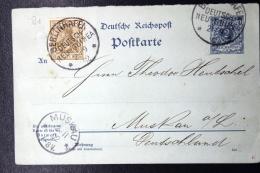 Deutsch Neu-Guinea:  Vorlaufer Postkarte P41 Uprated Berlinhafen -> Muskau - Kolonie: Deutsch-Neuguinea