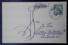 Deutsch Neu-Guinea:  Postkarte P13 Friedrich-Wilhelmshafen  -> Trier - Kolonie: Deutsch-Neuguinea