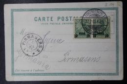 Deutsche Post In Turkei:  Postkarte Mi 12 II Paar Constantinopel -> Pirmasens 1905 - Offices: Turkish Empire