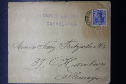 Deutsche Post In Marocco  Mitlaufer 20 Pf Brief 1920 Casablanca -> Hamburg - Bureau: Maroc