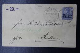 Deutsche Post In Marocco: Brief Saffi -> Berlin 1901 Mi 10 - Ufficio: Marocco