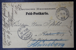 Deutsche Post In China Feld-Postkarte  Tonku  1900 FP11 - Deutsche Post In China