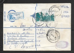 S.Africa, Domestic, Registered Cover 50cents, PULLEN'S HOPE 30.IX.83 > KENTARI; UMTATA Transit - Covers & Documents