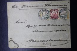 Deutsche Post In Kamerun  Brief  Duala Werkstätte - Kaiserslautern Mischfrankatur - Colony: Cameroun