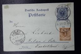 Deutsch-Südwest-Afrika  Postcard  Mitlaufer, M45  Postkarte P40 Uprated WARMBAD - ERLAU  Stempel Nr 9 - Colonia: Africa Sud Occidentale