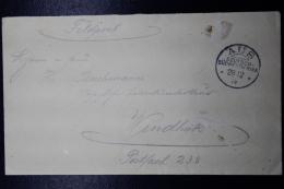 Deutsch Sudwestafrika FELDPOST Stempel 11  AUS -> WINDHUK 28-12-1914 Kriegsdatum - Colonie: Afrique Sud-Occidentale