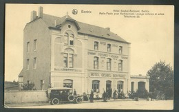 C.P. De BERTRIX Hôtel Geubel-Bertrand Malle-Poste Pour Herbeumont Louage De Voitures Et Autos, Exp. En Feldpost 1916 Ver - Bertrix