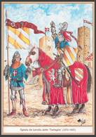 SCHEDA - Editrice Militare Italiana - Agnolo Da Lavello Detto Tartaglia (1370 - 1421) / In Tenuta Da Torneo A Tuscania - Militari
