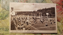 Ukraine Vs Polen, Poland, TRUSKAWIEC - Truskavets, 1930s - Volleyball  Square - Old Vintage Postvcard - Volleyball